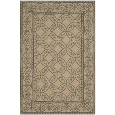 Flythe Wilton Taupe/ Green Area Rug Rug Size: Rectangle 8'6