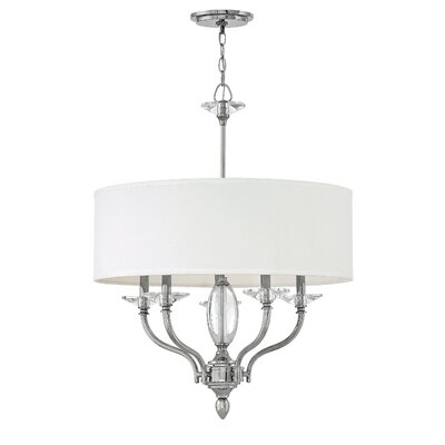Manuela 5-Light Drum Chandelier Finish: Polished Nickel