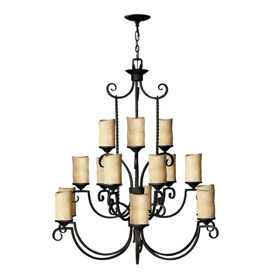 Jamar 15-Light Shaded Chandelier