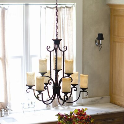 Jamar 9-Light Shaded Chandelier