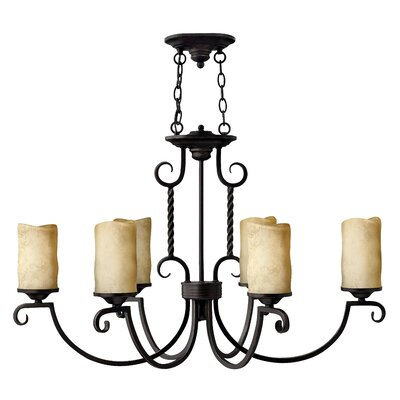Jamar 6-Light Shaded Chandelier