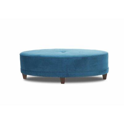 Sandro Oval Ottoman Upholstery: Tina Gulfstream