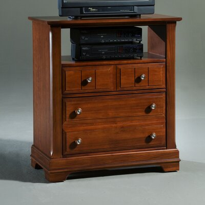 Marquardt 2 Drawer Media Chest Color: Cherry