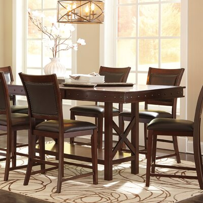 Paige Rectangular Counter Height Extendable Dining Table