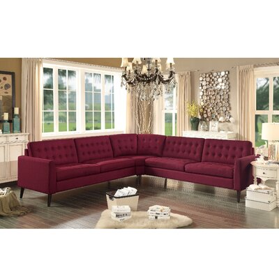 Starner Sectional Upholstery: French Burgundy