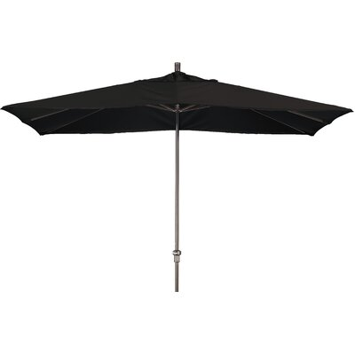 Chase 8 x 11 Rectangle Market Umbrella Fabric: Sunbrella A Black