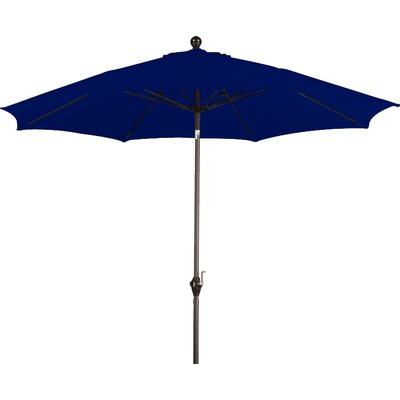 9 Wellfleet Market Umbrella Fabric: Polyester Navy Blue