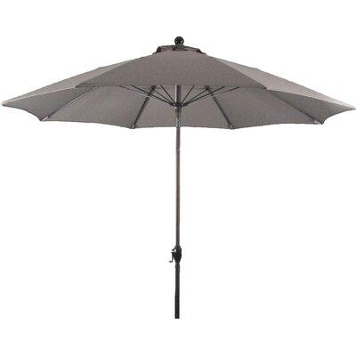 9 Wellfleet Market Umbrella Fabric: Polyester Taupe