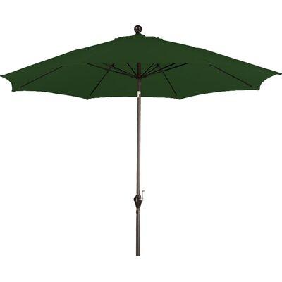 9 Wellfleet Market Umbrella Fabric: Polyester Hunter Green