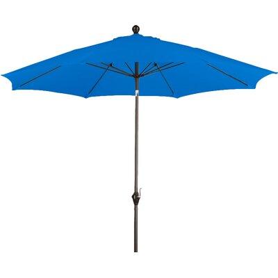 9 Wellfleet Market Umbrella Fabric: Polyester Pacific Blue
