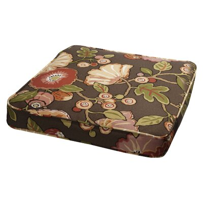 Floral Outdoor Dining Chair Cushion Size: 20 W x 20 D