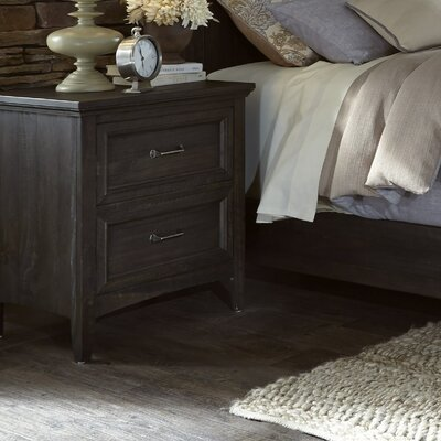 Loida 2 Drawer Nightstand