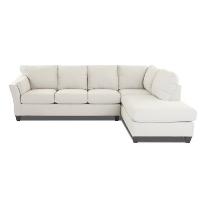 Mosley Sectional Upholstery: Conversation Ivory, Orientation: Right Hand Facing