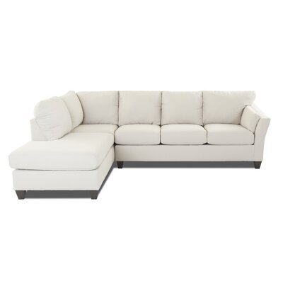 Mosley Sectional Upholstery: Oakley Ivory, Orientation: Right Hand Facing