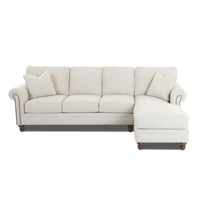 Bransford Sectional Upholstery: Conversation Ivory, Orientation: Left Facing