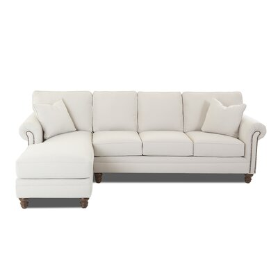 Bransford Sectional Upholstery: Oakley Ivory, Orientation: Right Hand Facing