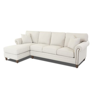 Bransford Sectional Upholstery: Oakley Ivory, Orientation: Left Hand Facing