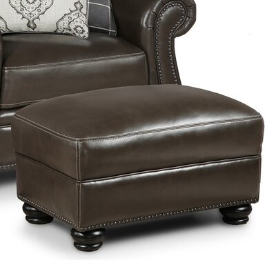 Mariela Leather Ottoman