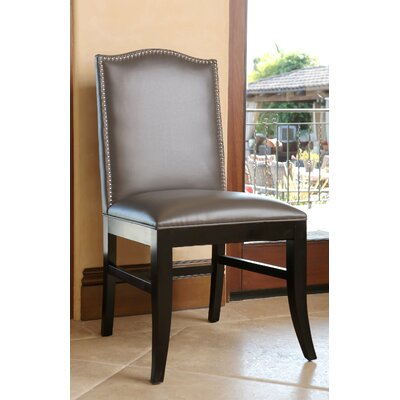 Liston Side Chair Upholstery: Grey Leather