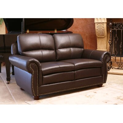 Barrows Leather Loveseat