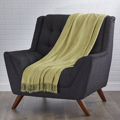 Northbrook Rayon from Bamboo Throw Color: Olive