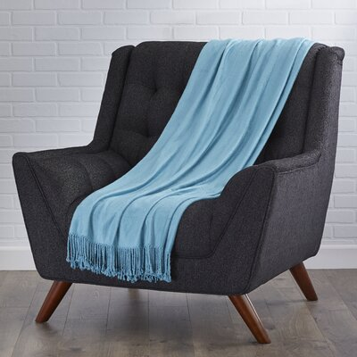 Northbrook Rayon from Bamboo Throw Color: Teal
