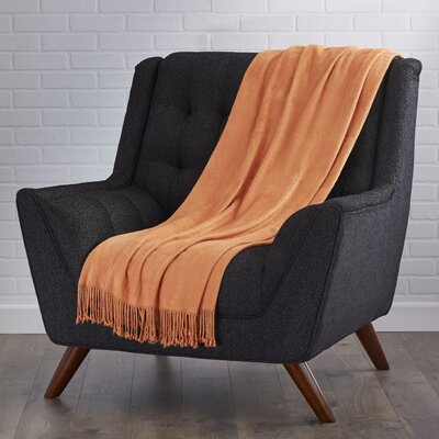 Northbrook Rayon from Bamboo Throw Color: Bright Orange