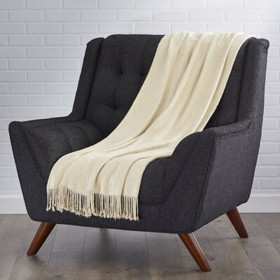 Northbrook Bamboo Throw Color: Beige