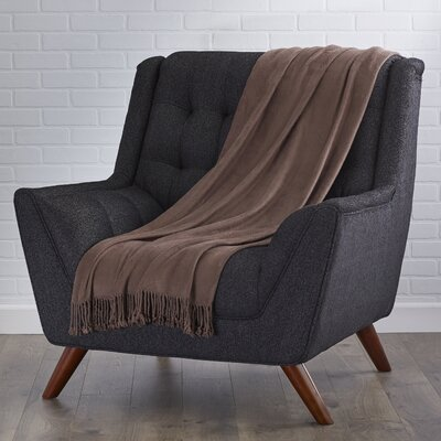 Northbrook Rayon from Bamboo Throw Color: Camel