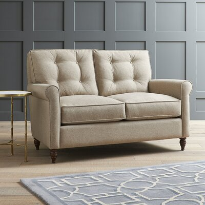 Farrwood Loveseat Fabric: Hermes Peppermint