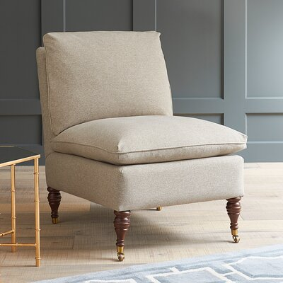 Farrwood Slipper Chair Fabric: Devon Mouse