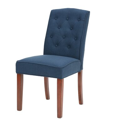 Cayman Tufted Side Chair Upholstery: Navy