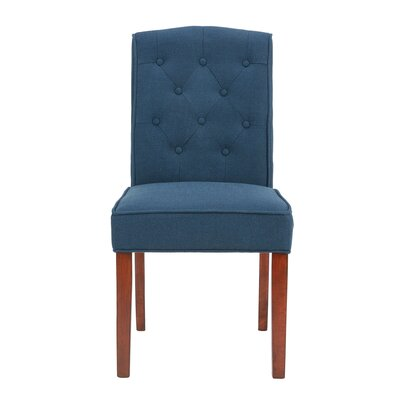 Lewin Tufted Side Chair Upholstery: Navy