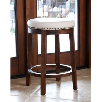 Attleborough 26 Swivel Bar Stool Upholstery: Ivory