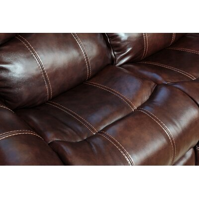 Deloatch Leather Reclining Sofa