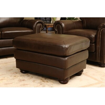 Bolling Leather Ottoman