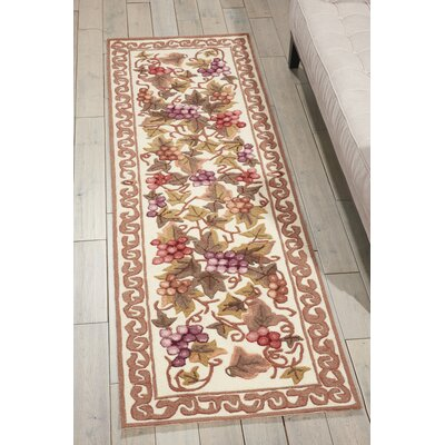 Balboa Hand-Tufted Ivory/Brown Area Rug Rug Size: Runner 23 x 76
