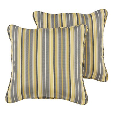 Catherine Indoor/Outdoor Sunbrella Throw Pillow Size: 18 H x 18 W x 6 D