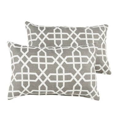 Malcom Geometric Indoor/Outdoor Sunbrella Lumbar Pillow