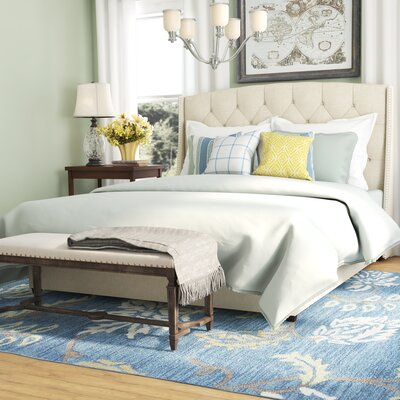 Clowers Upholstered Platform Bed Size: Queen, Color: Beige