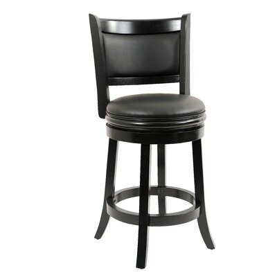 Orangeville 24 Swivel Bar Stool Finish: Cappuccino, Upholstery: Brown