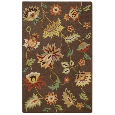 Baldock Chocolate Area Rug Rug Size: Rectangle 5 x 8