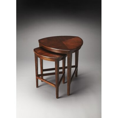 Carey 2 Piece Nesting Tables Finish: Antique Cherry