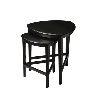 Carey 2 Piece Nesting Tables Color: Distressed Black Licorice