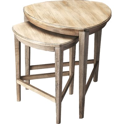 Carey 2 Piece Nesting Tables Color: Driftwood