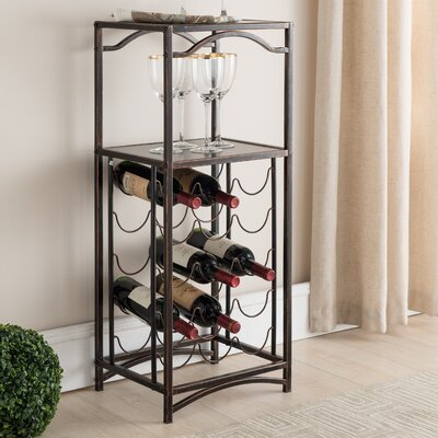 Floyd Metal Storage 15 Bottle Floor Wine Bottle Rack