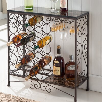 Floyd Metal Storage 24 Bottle Floor Wine Bottle Rack