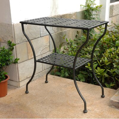 Doric Iron 2-Tier Patio Table Finish: Antique Black