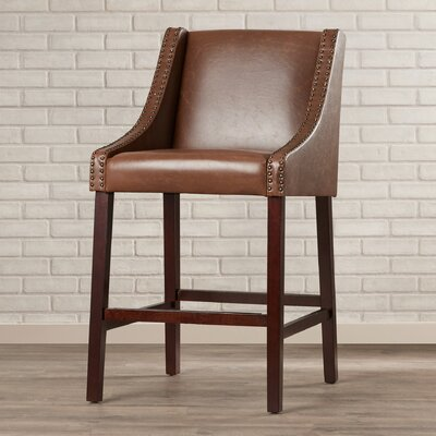 29.5 Bar Stool Upholstery: Brown