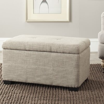 Chrisman Storage Ottoman Upholstery: Light Grey